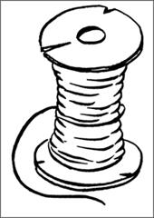 Картинки раскраски нитки для детей