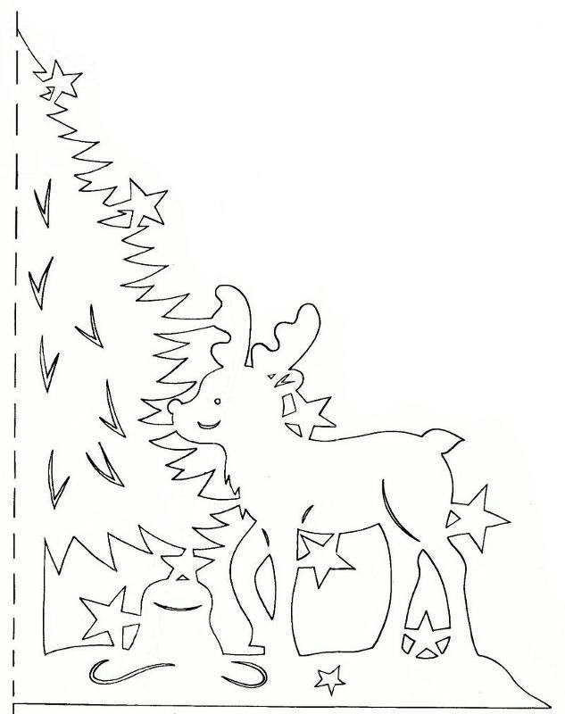 Новогодние картинки трафареты для вырезания из бумаги