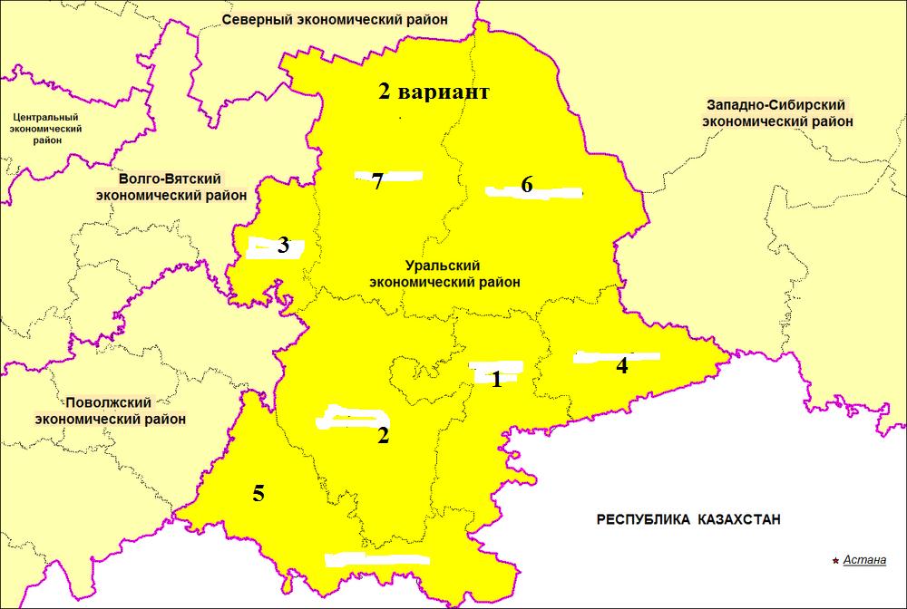 урал на карте россии с границами малярки покрасила