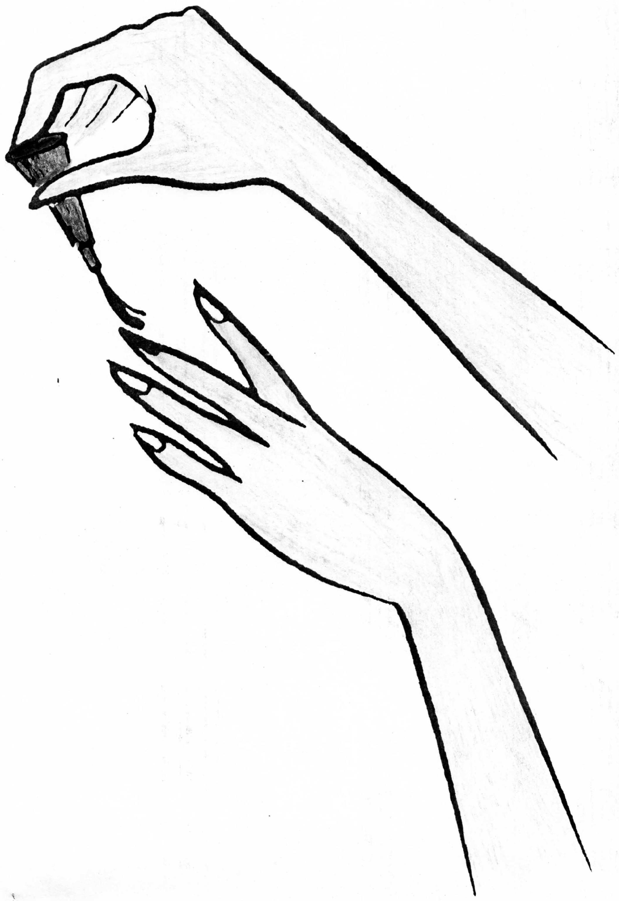 картинки карандашом маникюр предпочитают