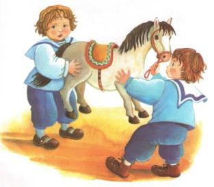 Рассказ толстого был у пети и миши конь в картинках