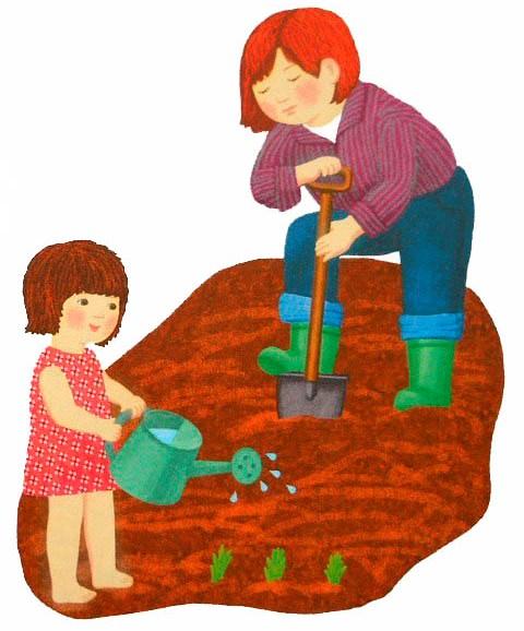 Картинка к стишку мы копали огород