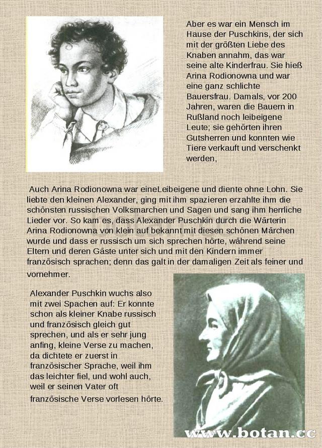 презентация по немецкому языку Der Große Russische Dichter